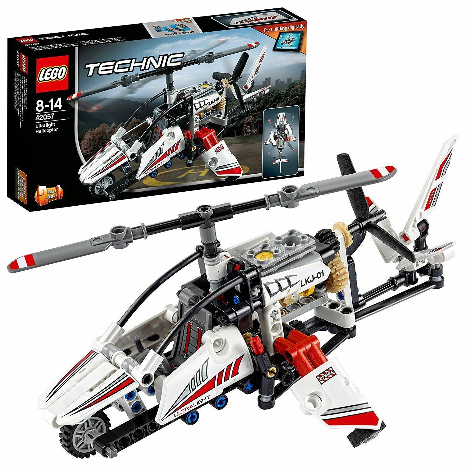 LEGO 42057 TECHNIC ULTRALIGHT HELICOPTER 2 IN 1 SET - Retired Set