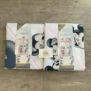 Disney-clasico-Mickey-y-Minnie-Mouse-Funda-De-Edredon-Ropa-De-Cama-Primark-Hogar-Regalo