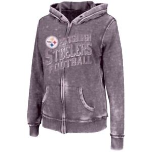 100% authentic 3a84a df48e Details about Pittsburgh Steelers Majestic NFL Women's Princess III  Full-Zip Hoodie Sweatshirt