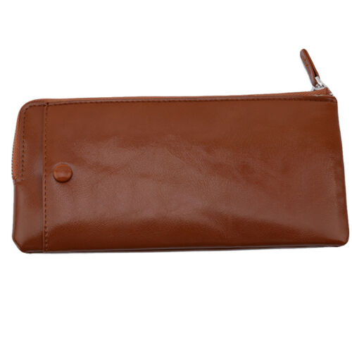Zipper Youth Cell Phone Bag Wallet Men/'s Long Soft Leather Wallet Popular Hot QP