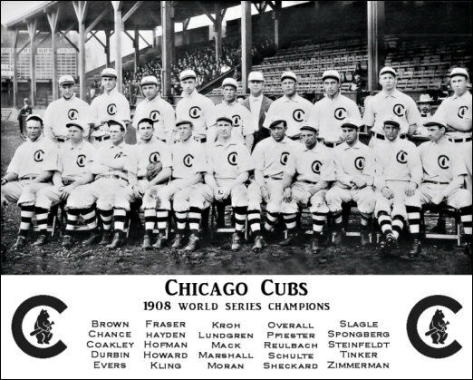 d26fa13c 1908 Chicago Cubs Photo 8 X 10 Tinker Evers Chance World Series Champions
