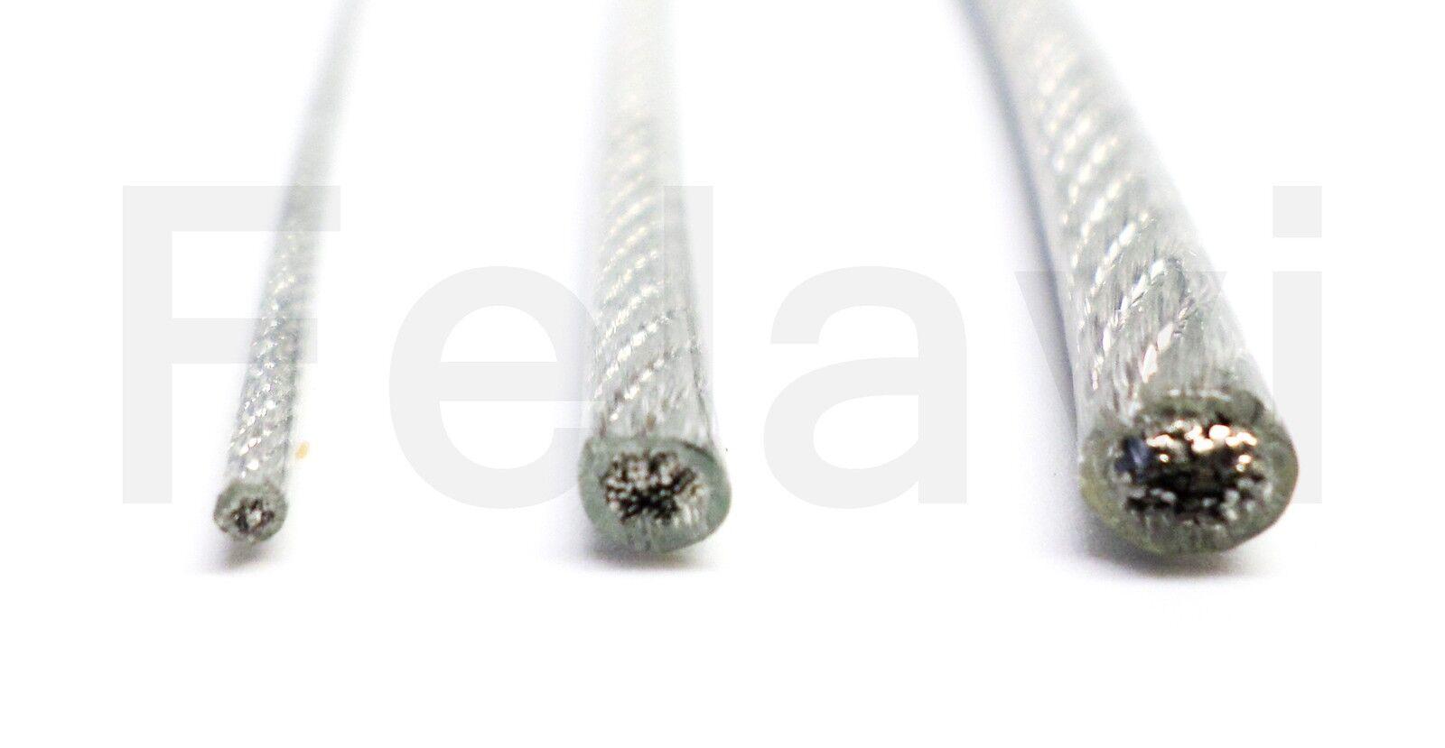 Câble de traction Acier inox PVC Couvert Couvert Couvert (€2,32/m-€0,23/M) 1-2-3 mm Corde F22) 61aeb6