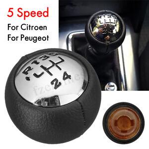 5-Velocidades-Pomo-Palanca-Cambios-For-Peugeot-307-308-3008-407-Citroen
