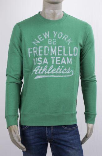 Mello E Collo Con Verde Fianchi Dettagli Giro Sui Anteriore Fred Stampa Felpa q5Z8W