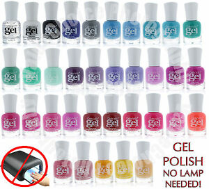 Gel Nail Polish Long Lasting Quick Drying Extreme Shine No UV Lamp ...