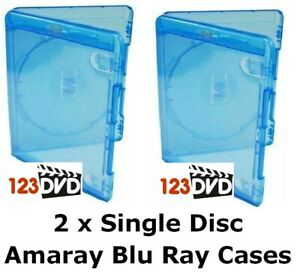 2 x Blu Ray Case 15mm Spine (Single Disc) - Genuine AMARAY *FAST UK DISPATCH*