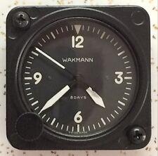 Wakmann Lemania Cal 7510 2 1/4 Inch 7 Jewel Aircraft Clock White Numbers