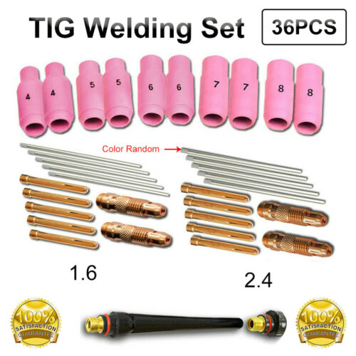 36Pcs TIG Welding gun Torch Spares Consumables Accessories for WP 17//18//26//27