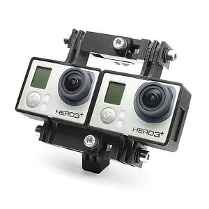 Variable-3D-Connector-amp-Tripod-Mount-f-GoPro-HERO3-Black-Stereoscopic-Zubehoer