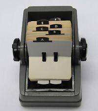Vintage Zephyr Rolodex Small Cards 275x15 Alphabet Bakelite Handles Mid Cent