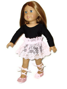 3-pc-Ballet-Outfit-fits-American-Girl-Dolls-18-034-Doll-Clothes-Leotard-Tutu-Shoes