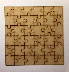 Mdf Blanc En Bois Jigsaw Puzzle - 36 Pièces Découpe Laser 3 Mm épaisseur 170 Mm (17 Cm)-afficher Le Titre D'origine