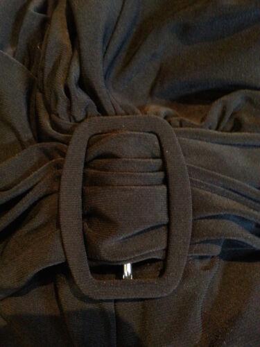 Dress New Klein Quality Elegant Flippy Black Calf Length Uk 14 Deep Ann 4tHwxIqCx