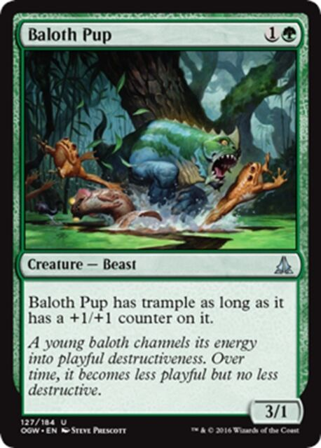 MTG Magic - (U) Oath of the Gatewatch - 4x Baloth Pup x4 - NM/M