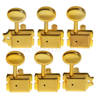 1set Gold 6R Inline Vintage Tuning Peg Machine  Head For Fender ST replacement
