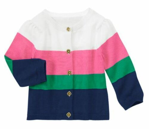 Gymboree Stripes /& Anchor Bright Colorblock Cardigan White 12-18 mo MSRP $35 NWT