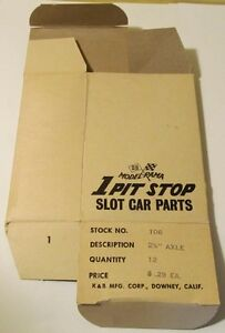 Aurora-K-amp-B-Model-Rama-Pit-Stop-Dealers-Parts-Box-for-106-Axles