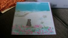 HANNAH COLE WHISTLEFISH  DOG  BEACH BLANK NEW GREETING CARD A PERFECT DAY
