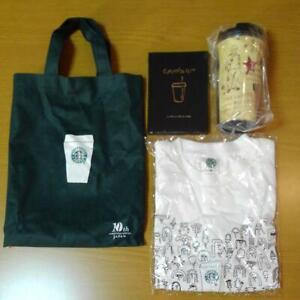 Starbucks-Tumbler-tote-bag-T-Shirt-Note-Book-10th-Anniversary-set-rare-Limited