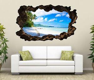 Dettagli su 3D Adesivo Murale Paesaggio Maldive Spiaggia Mare Murale Parete  Adesivo 11G349