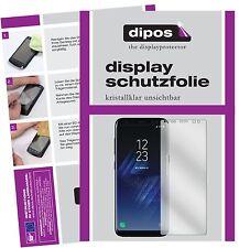 2x Samsung Galaxy S8 Protector de Pantalla protectores transparente dipos