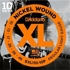 D'Addario EXL110 Pro Pack Electric Guitar Strings10-46.10 Sets At A Huge Saving!