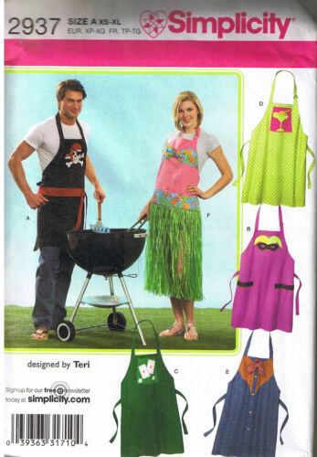 Pirate Skull Crossbones Luau Grass Skirt Western Costume Aprons Sewing Pattern