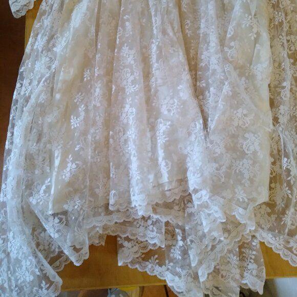 Vintage Gunne Sax White Lace Prairie Dress - image 7