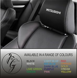 5-mitsubishi-car-seat-head-rest-decal-sticker-vinyl-graphic-logo-badge-free-post