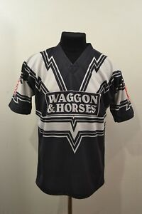 RARE-Rugby-Shirt-Widnes-Tigers-ARLFC-STAG-Barla-Vintage-Jersey-36