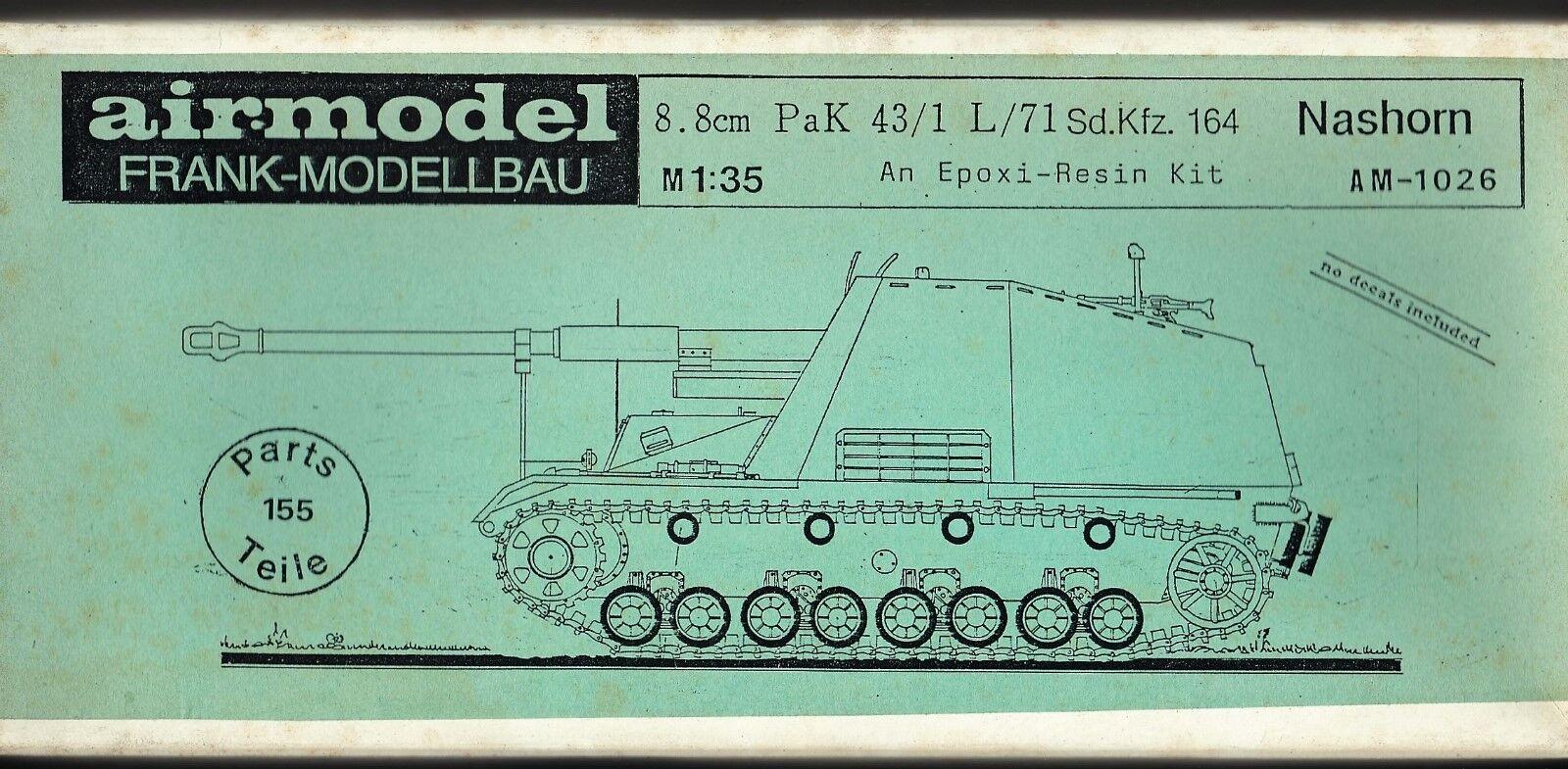 AIRMODEL PRODUCTS AM-1026 - 8.8cm 8.8cm 8.8cm PaK 43 1 L 71 Sd.Kfz.164 NASHORN - 1 35 RESIN 638348