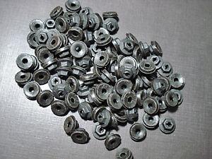 "10 pcs 1//8/"" emblem name plate black thread cutting nuts /& sealer fits Mopar"