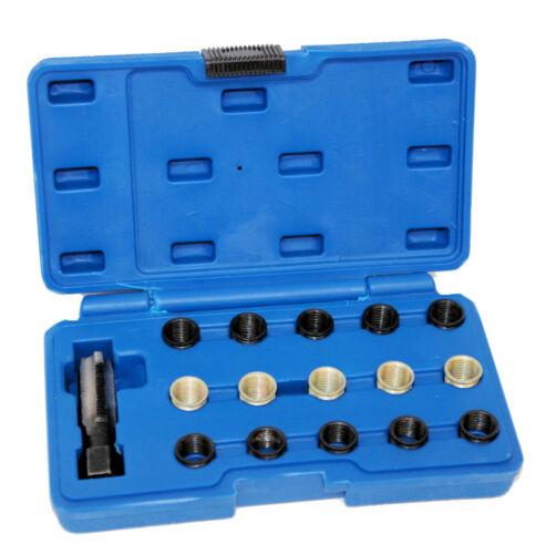 Zündkerzen Gewinde Reparatur Satz M14 Gewindebohrer Werkzeug Gewindeeinsätze