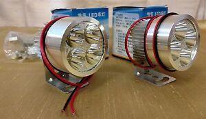 2PK-12V-DC-ALUMINUM-WATERPROOF-SPOTLIGHT-HEADLAMP-FOG-LIGHTS-LED-LIGHT-W-BRACKET