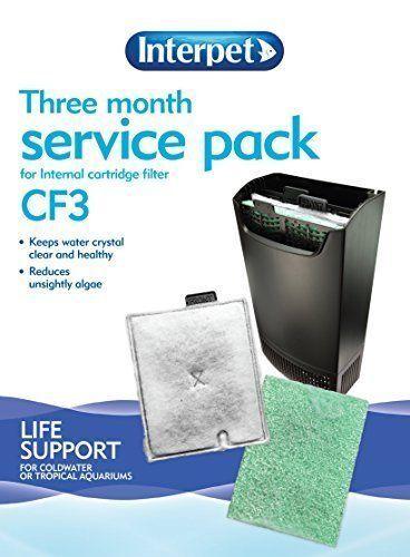 INTERPET CF3 3 6 12 Month Service Kit - CF3 3 MONTH SERVICE KIT FISHTANK FILTERS