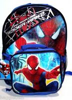 The Amazing Spider-man 2 Backpack Bag W/ Detachable Lunch Box Tool Kit Boys
