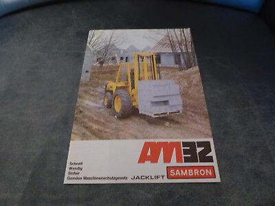 Selbstlos Altes Prospekt Zu Dem Sambron Geländestapler Am 32 Business & Industrie Kataloge & Prospekte