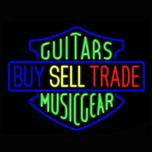 Guitars Buy Sell Trade Music Gear Neon Light Sign 24 X20 Bar Decor Glass Ebay