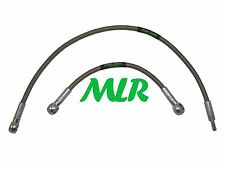 200SX S13 STAINLESS STEEL BRAIDED TURBO WATER FEED & RETURN HOSE PIPES MLR.YU