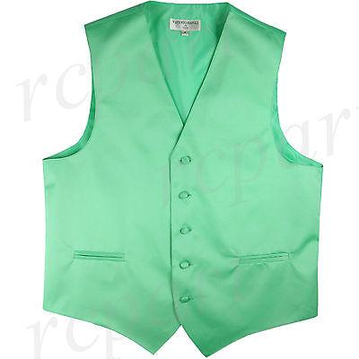 New Men/'s Formal Vest Tuxedo Waistcoat emerald green/_Bowtie wedding prom party
