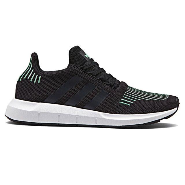 7cfbbd5e4 adidas Originals Swift Run Black Green Men Running Shoes SNEAKERS ...