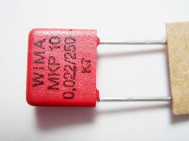 10x 0,0068uF 6,8nF 400Vdc Film Capacitor WIMA FKS-3 Loose #19F08