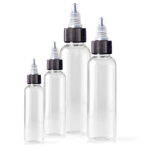 60ml Empty Plastic Bottles 5 Pack, For Tattoo Ink, Green Soap & Other Liquids