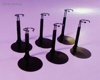 6 Mini Doll Stands Kaiser 1075 Black. 3.5-5 Tall Kelly, Tommy, Nancy Ann, Etc