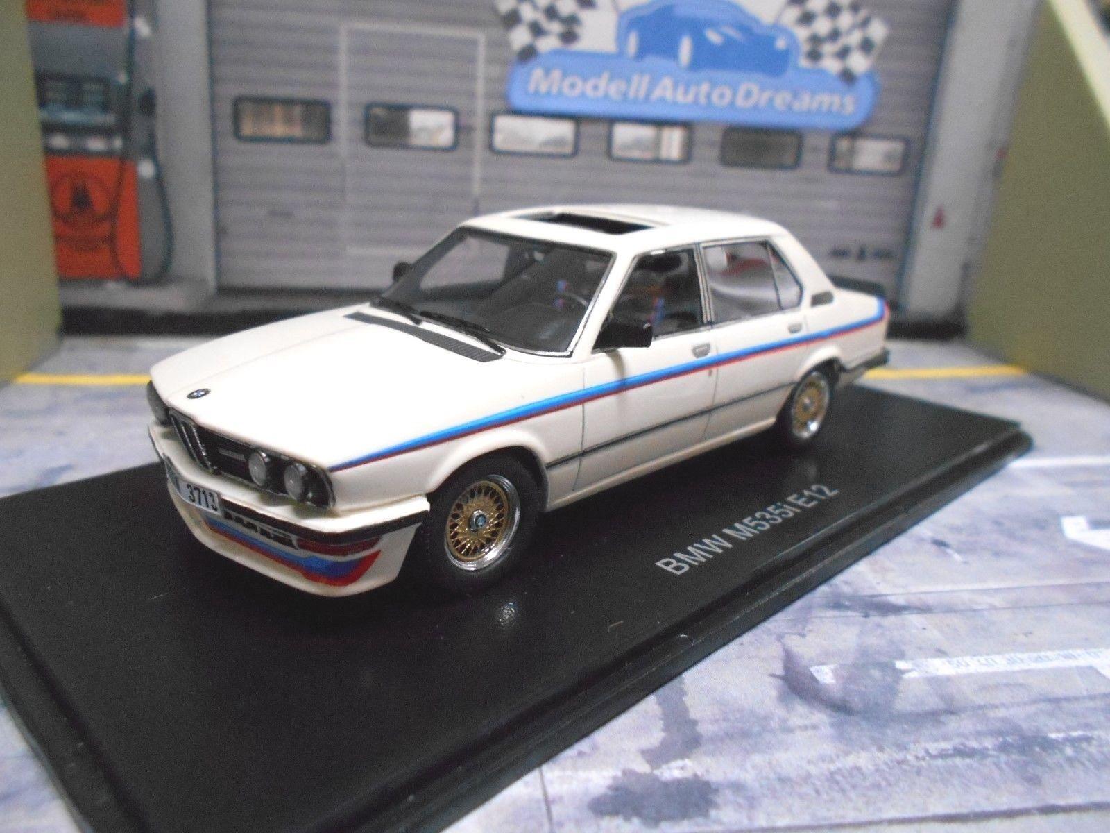 BMW 5er serie M 535i m535i BIANCO WHIT e12 1980/1981 NEO highenddet resina 1:43
