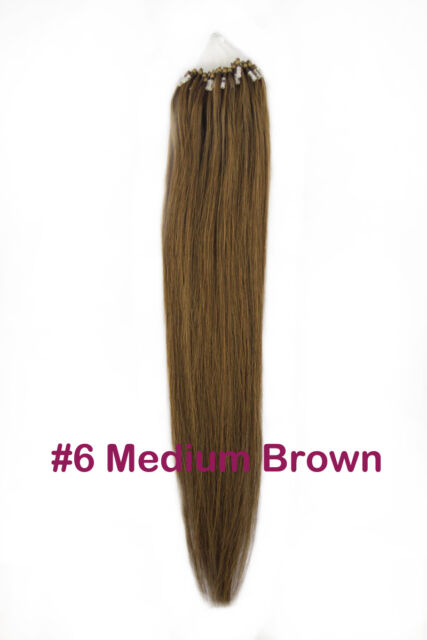 Micro Loop Ring Tip Remy Real Human Hair Extensions 100S/Pack All Color ON SALE!