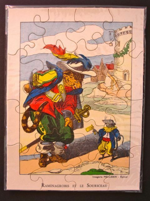 Vintage Imagerie Pellerin Storybook Puzzles Puzzles Puzzles (SET OF 4) InvYY beef0e