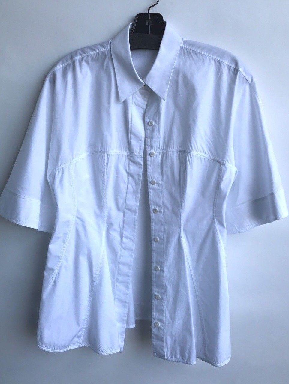 Givenchy Size 42 White Button Down Blouse