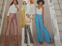 Mccall's 3192 Misses' Summer Capri Low Rise Pants Sewing Pattern Sizes 8-10-12