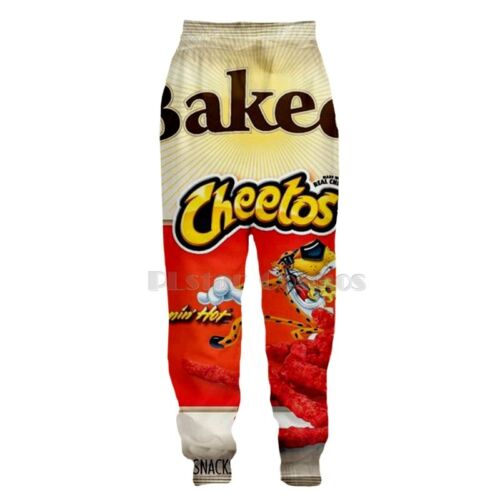 New Fashion Women//Men Cheetos Funny 3D Print Casual Pants A12